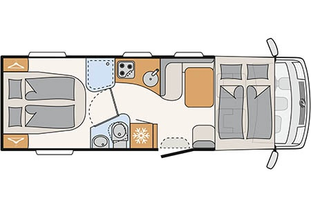 Floor plan - McRent, Premium Standard
